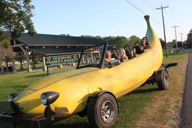 6. Автомобиль-банан автомобили, концепт-кары, странности