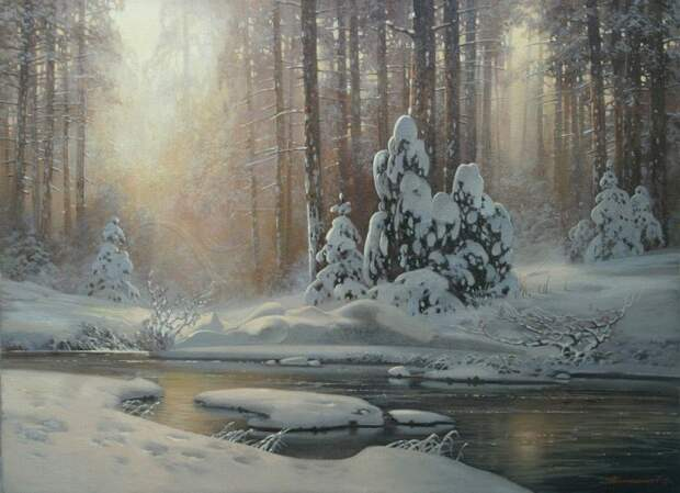 Великолепие русской зимы на картинах Дмитрия Колпашникова