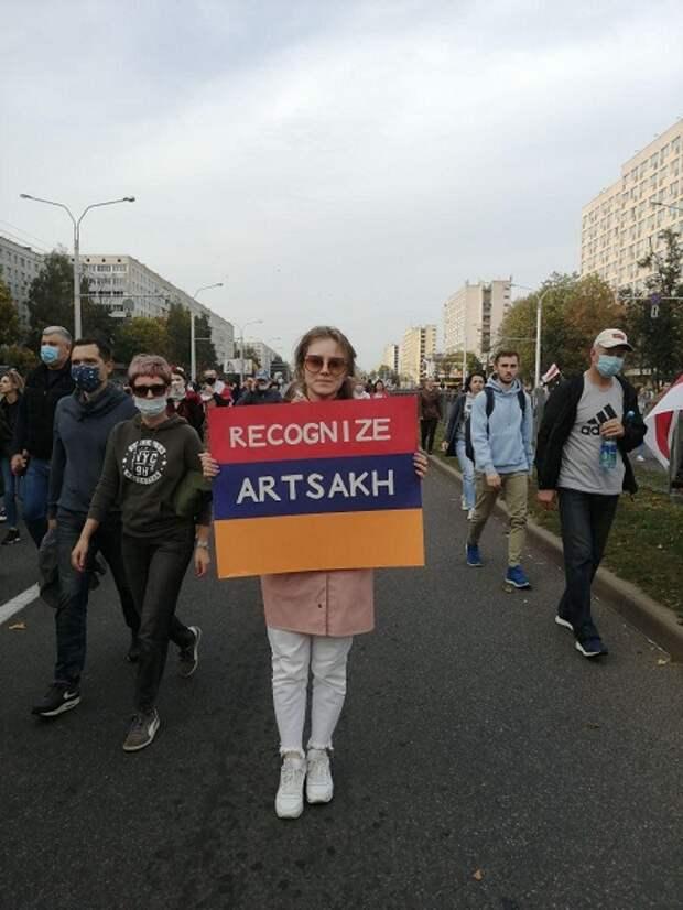 Оппозиционеры в Минске просят признать Нагорный Карабах