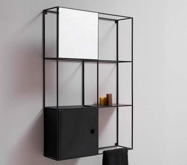 Ванная минимализм, черно-белая ванная