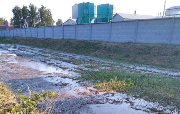 Рязанцы сообщили о зловонных лужах вокруг предприятия «Ибредькрахмалопатока