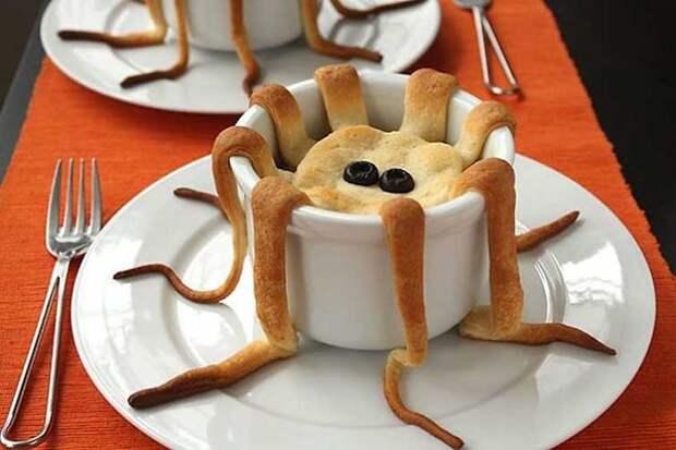 Милый маленький паукопирог выпечка, красивая еда, кулинария, пироги