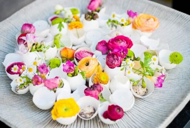 Цветы в скорлупках