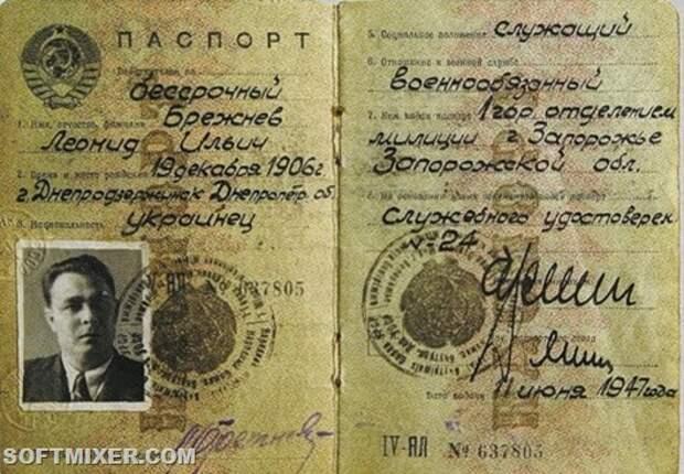 Как выглядели паспорта знаменитых людей
