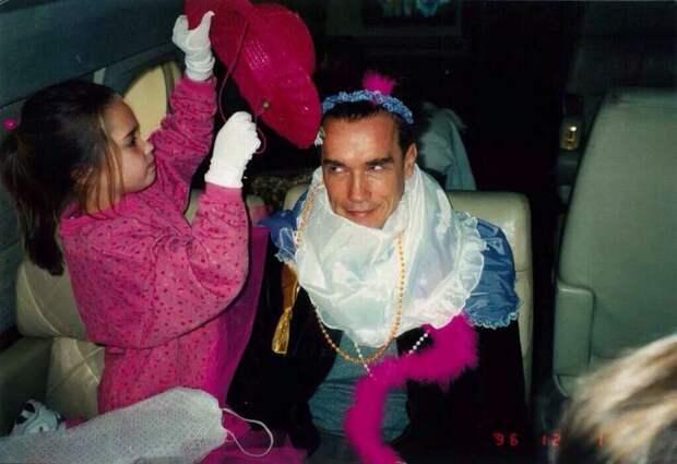 Арнольд Шварценеггер со своей дочерью Кристиной, 1996 год история, картинки, фото