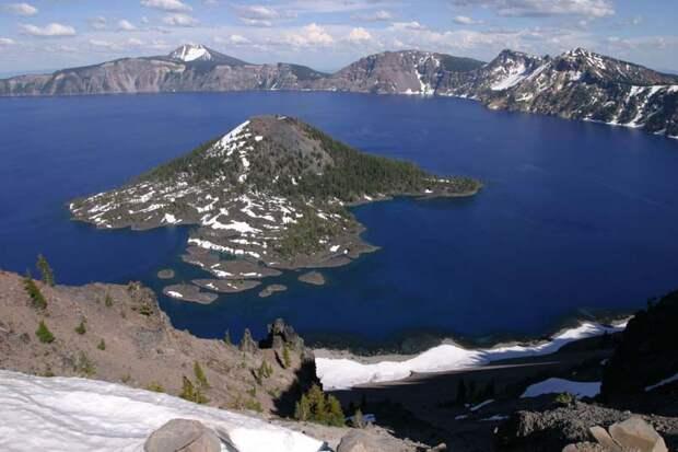 8. Озеро Крейтер, штат Орегон, США в мире, озеро, природа