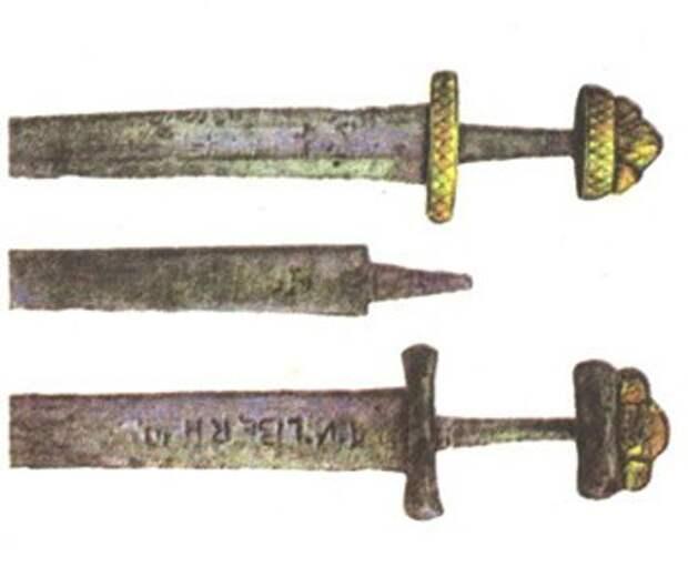 Клейма на клинках мечей из древнерусских памятников