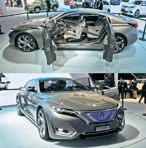 Дизайн-студии фирмы Changan работают над перспективными моделями. Знакомый в России среднеразмерный седан Raeton может получить версию купе. Лишенный средней стойки автомобиль смотрится авангардно. Вот только мощности двигателей объемом 1,8 и 2,0 л (они же приводят нынешний Raeton и Changan CS75) для такой машины явно недостаточно.