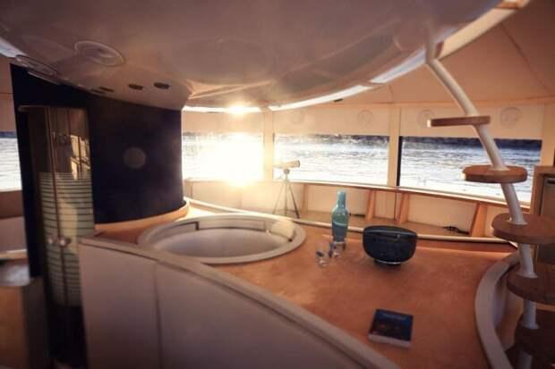 Как выглядит французский эко-отель Anthenea сплавучими капсулами