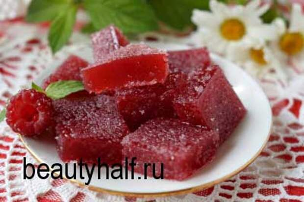 Домашний мармелад из малины с желатином
