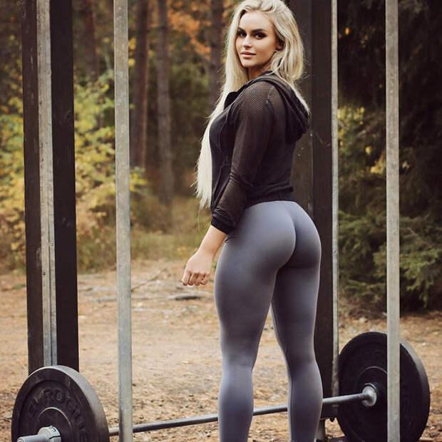 Фигура шведской фитнес-красавицы прославила ее на всю страну