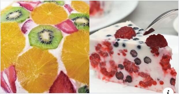 Рецепт потрясающего фруктового торта без выпечки