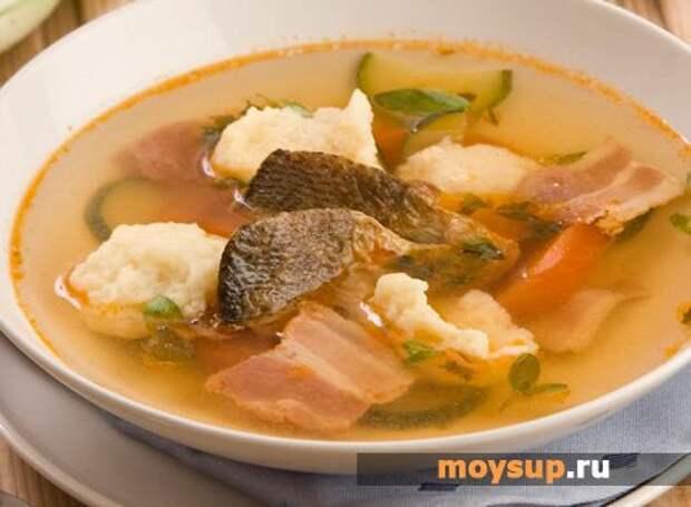 Рыбный суп с манными клецками по-чешски