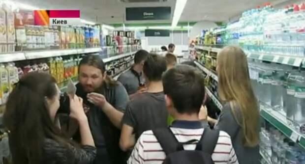 «Голодные бунты» опустошают киевские магазины