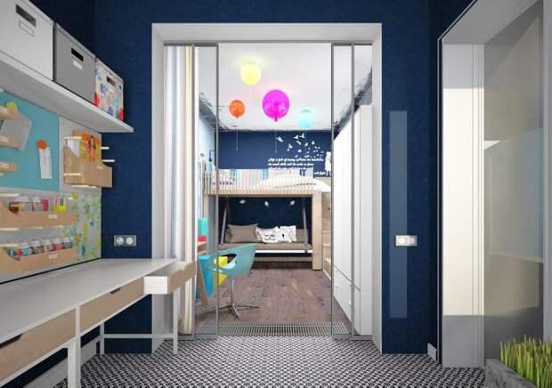 Детская комната, рабочее место для ребенка в детской