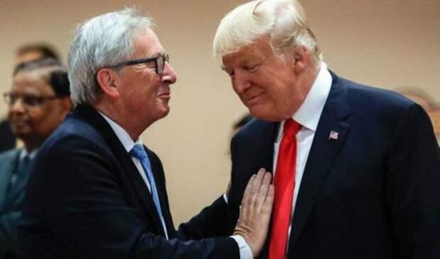 Трамп и Юнкер