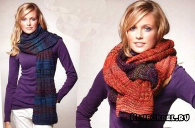 Объёмный меланжевый шарф