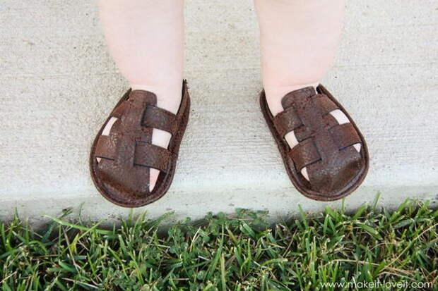 Картинка сандалии для мальчика, мк по шитью