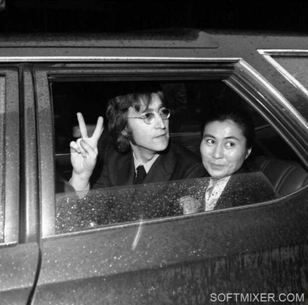 John Lennon and Yoko Ono 1972