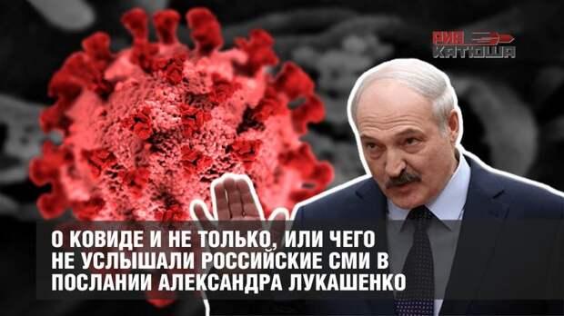 О ковиде и не только, или чего не услышали российские СМИ в послании Александра Лукашенко