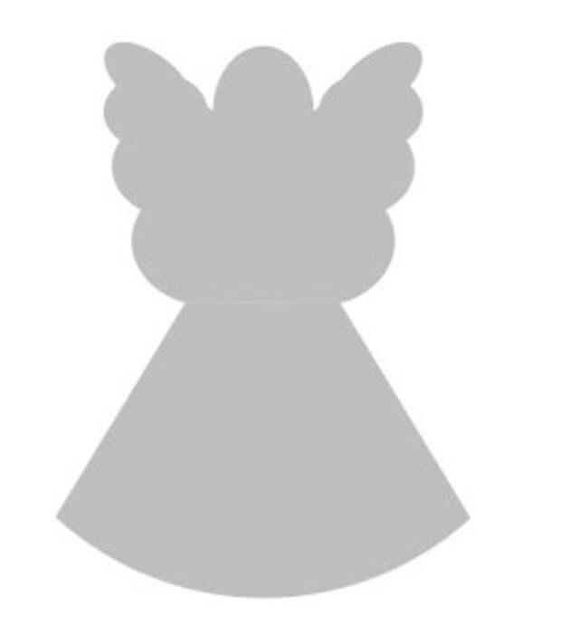 трехмерный ангел из бумаги выкройка