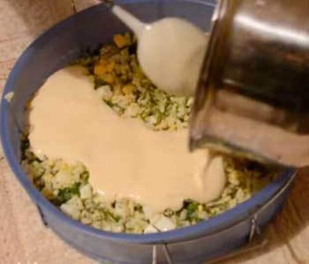Как приготовить пирог с рисом, яйцом и зеленью рецепт с фото