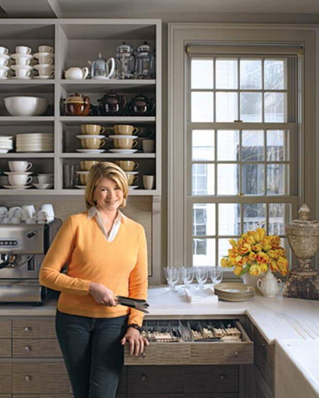 Марта Стюарт о своей кухне: легкие способы обеспечить комфорт и порядок
