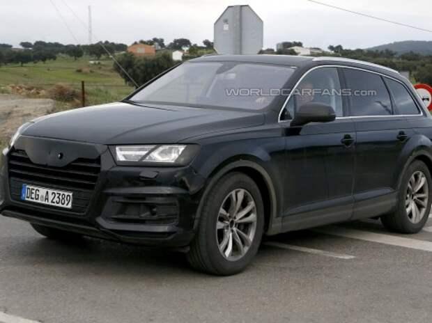 Новый Audi Q7 оголился перед фотокамерами