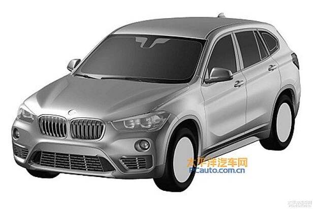 2016-BMW-X1-LWB-front-three-quarters-patent-image