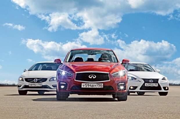 Infiniti Q50, Volvo S60, Lexus IS 250