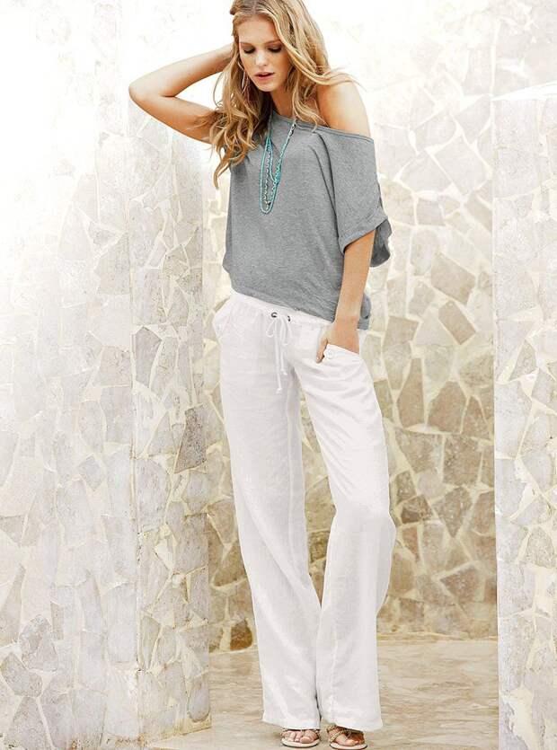 белые карго штаны