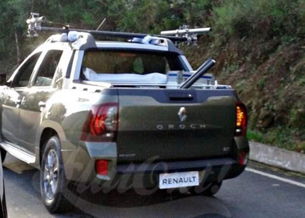 Шпионские фото пикапа Renault Oroch