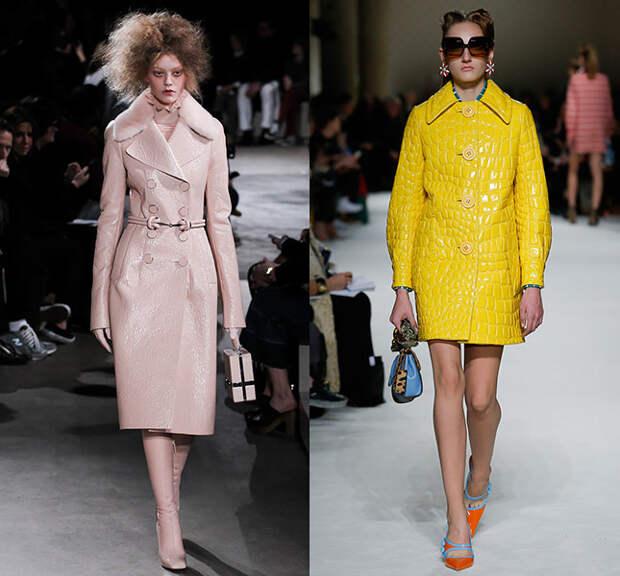 Слева — Alexander McQueen, справа — Miu Miu