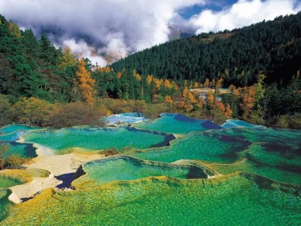 Водопад Желтого дракона, Китай. водопад, природа, факты