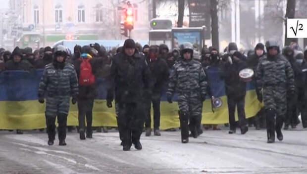 """Украинские националисты напомнят власти, чьи трезубцы возвели ее на """"престол"""""""