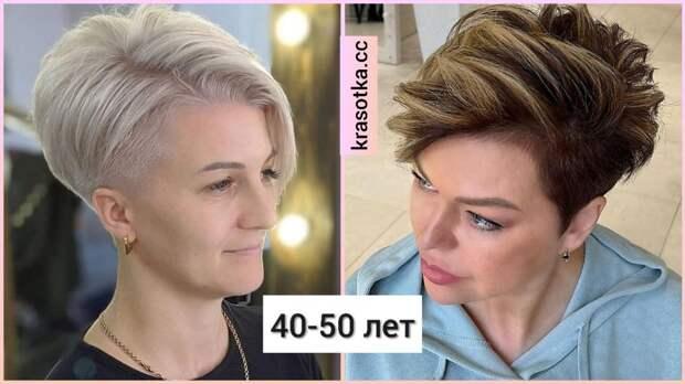 Стрижки с выбритыми висками для женщин 40-50 лет: 14 крутых идей