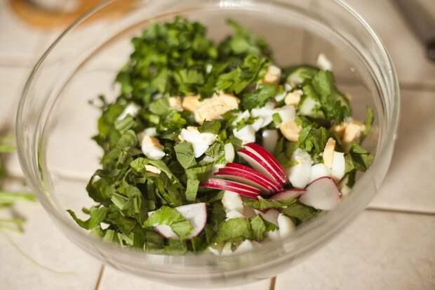 Салат из сныти с редисочкой дача, рецепты, сорняки