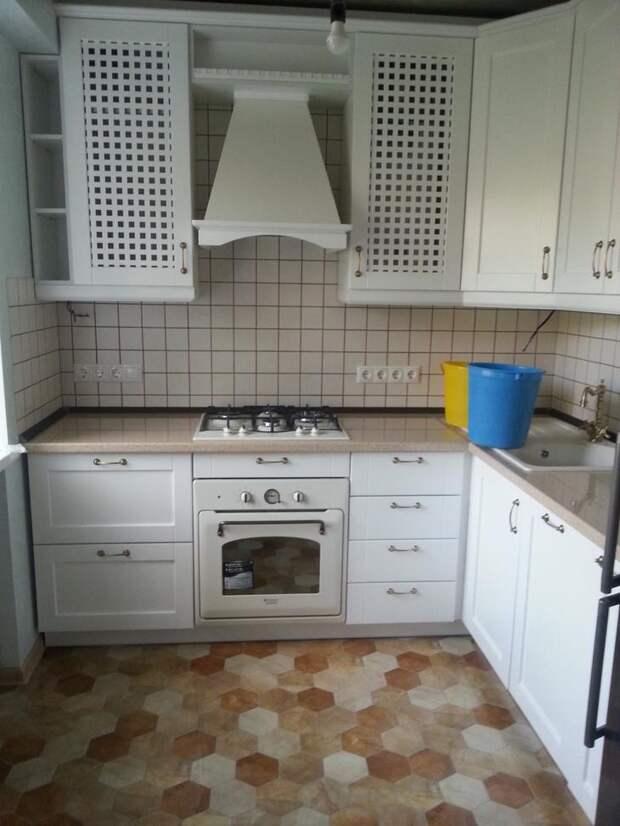 Белая кухня. Кухня из бука.