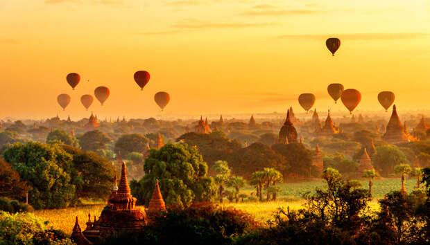 Воздушные шары над Паганом, Мьянма