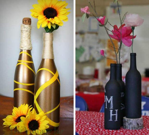 бутылки-вазы