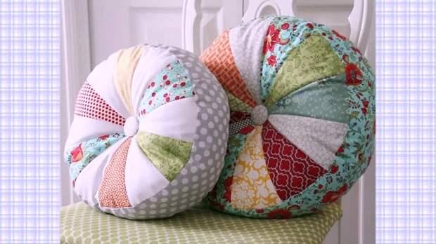 Интересная идея для красивой подушки, шьется легко и просто