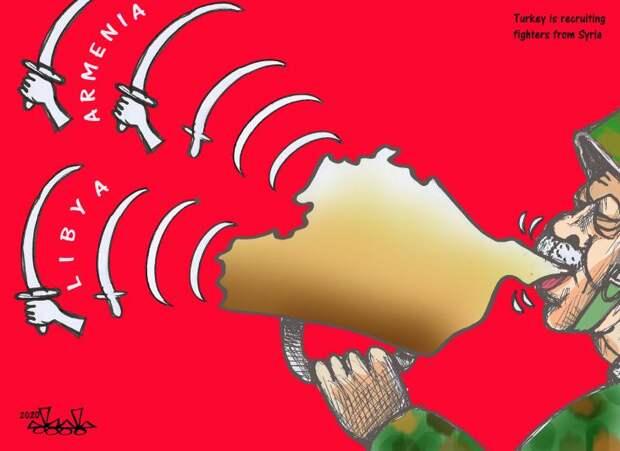 Война в Карабахе в карикатуре