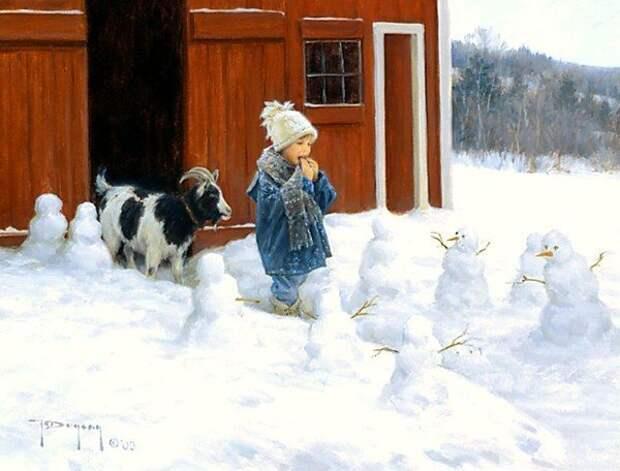 Беззаботное детство в картинах американского художника