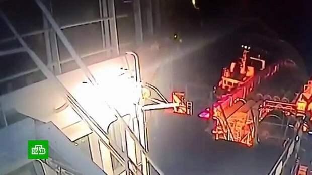 Видео атаки поляков на трубоукладчик «Северного потока – 2»