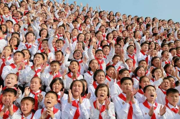 Северокорейские школьники