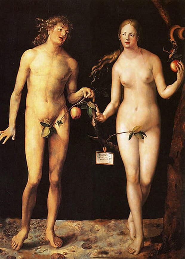 """Альбрехт Дюрер. """"Адам и Ева"""". Ок. 1507"""