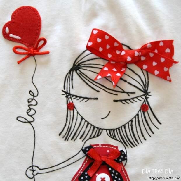 Аппликация с вышивкой на детских футболках (39) (700x699, 326Kb)