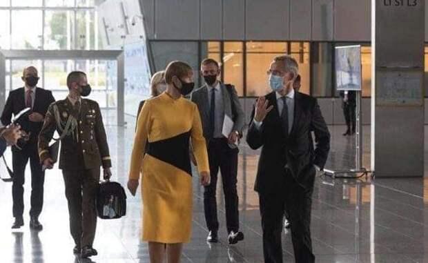 Подозрительное платье: Глава Эстонии рекламирует «пропаганду Кремля»