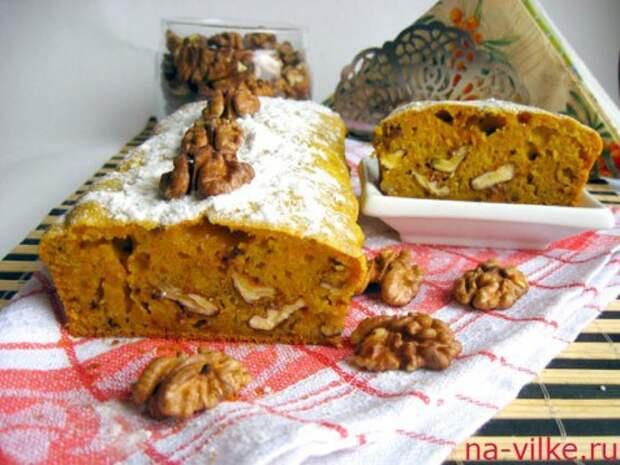 Тыквенный кекс с орехами