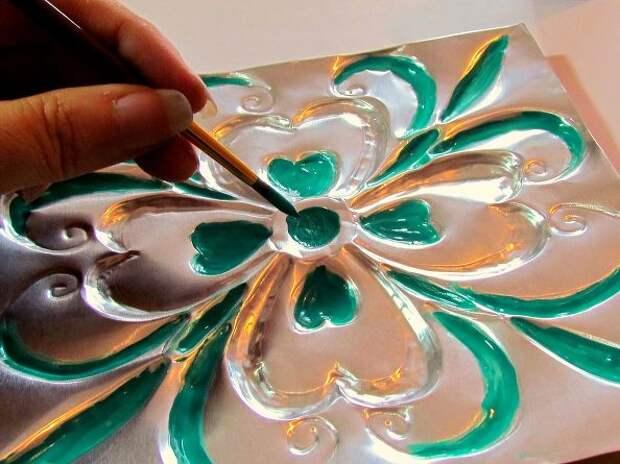 Плитка из алюминиевой фольги